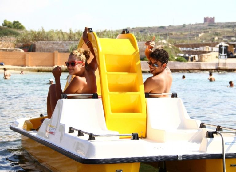 Rent a paddle boat